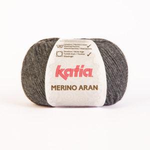 Merino Aran N°14 de KATIA pelote de 100 g coloris Gris Anthracite