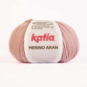 Merino Aran N°53 de KATIA pelote de 100 g coloris Vieux Rose