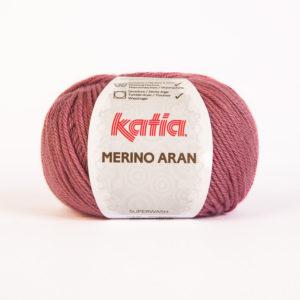 Merino Aran N°54 de KATIA pelote de 100 g coloris Framboise