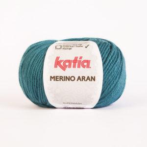 Merino Aran N°56 de KATIA pelote de 100 g coloris Bleu Canard