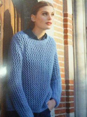 KIT Complet Pull Filet Prêt à être tricoté Taille 42/44