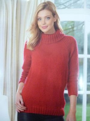 KIT Complet Pull Col Roulé Prêt à être tricoté Taille 50/52