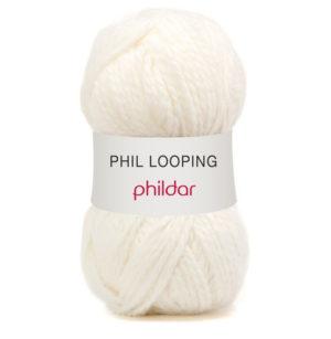 Looping de Phildar coloris Craie