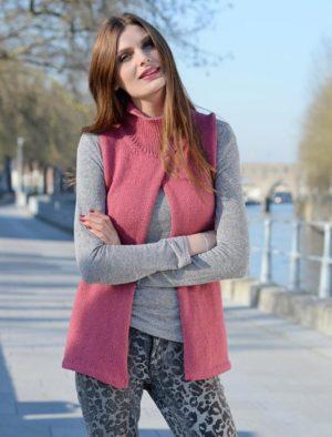 KIT Complet Cardigan Croisé Prêt à être tricoté Taille 46/48