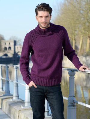 KIT Complet Pull Homme Prêt à être tricoté Taille XL