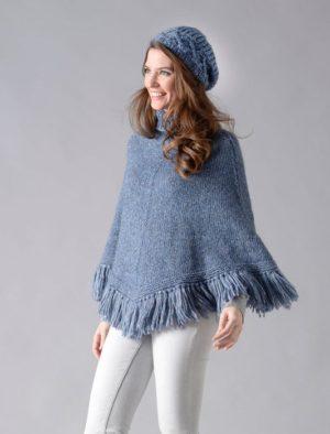 KIT Poncho Prêt à être tricoté Taille 42/44