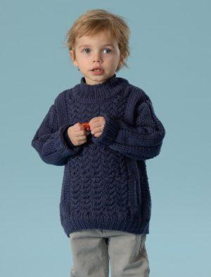 KIT Pull à poche Ventrale Prêt à être tricoté Taille 12/14 Ans