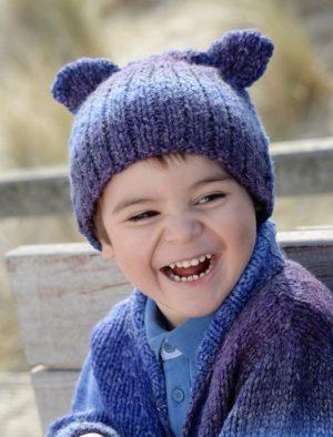 KIT Bonnet Chat prêt à être tricoté