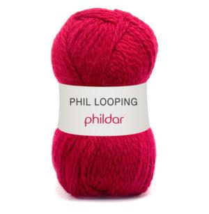 Looping de Phildar coloris Amarante