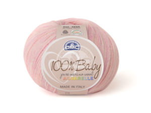 100% Baby Aquarelle N°1340 de D.M.C coloris Rose Chiné