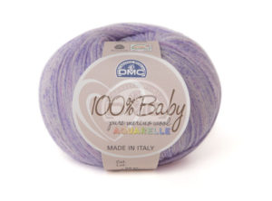 100% Baby Aquarelle N°1360 de D.M.C coloris Violet Chiné