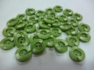 Bouton «Vert Amande» 12 Mm