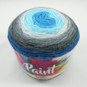 PAINT N°52 de KATIA pelote de 150 g coloris Multicolore