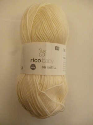 LOT de 5 Pelotes Baby So Soft de RICO DESIGN Coloris N°01