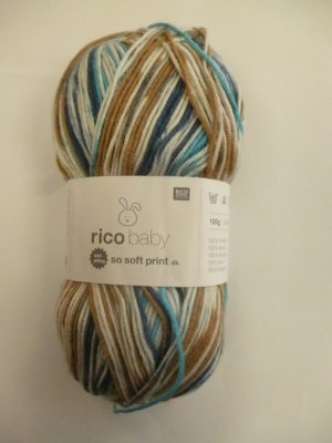 LOT de 5 Pelotes Baby So Soft Print de RICO DESIGN Coloris N°11
