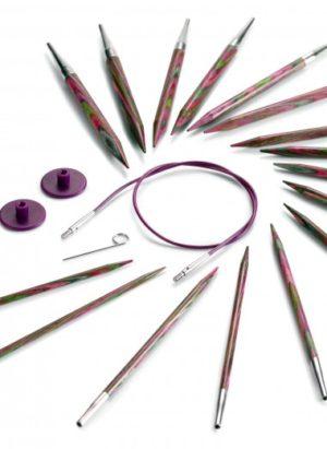Kit 8 paires aiguilles circulaires interchangeables Knit Pro