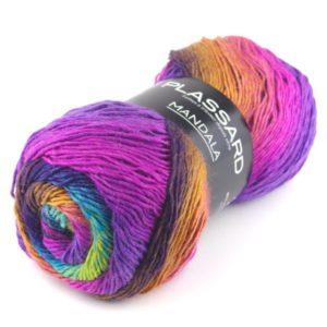 MANDALA  PLASSARD coloris N°1 Pelote de 150 Gr