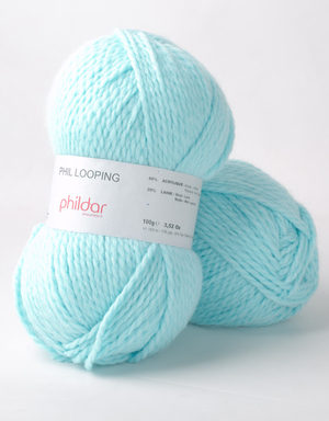 Looping de Phildar coloris Cyan