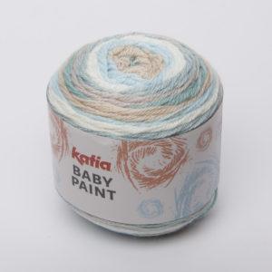 BABY-PAINT N°101 de KATIA pelote de 100 g Multicolore