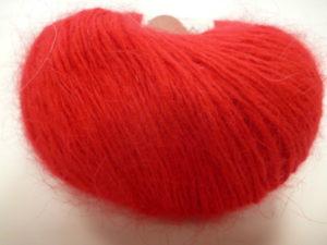 Cœur d'Angora de FONTY 100% Français Coloris N°200 Rouge