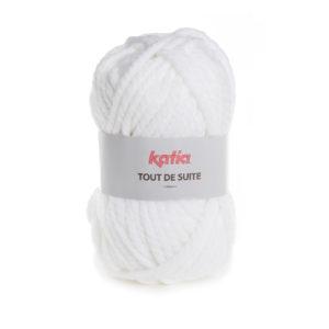 Tout de Suite KATIA pelote de 200 g Coloris N°100 Blanc