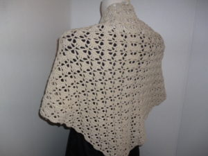 châle chèche au crochet en FASHION COTTON METALLISE