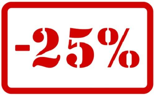 MOINS 25%