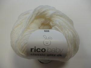 Baby Classic Glitz N°001 de Rico Design Coloris Blanc