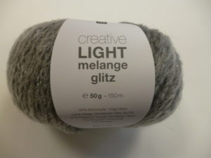 Light Melange Glitz N°002 de Rico Design Coloris Gris Mix