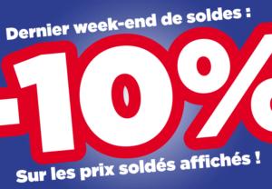 DERNIÈRES HEURES  de SOLDES 2019: Venez profiter de Moins 10% sur tout le site Même les SOLDES !!!!!
