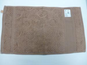 Serviette Invité 30 x 50 à BRODER de Rico Design Coloris Chocolat avec Rond