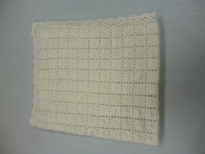 couverture bébé en BB MERINOS coloris blanc