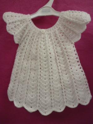 robe layette coloris blanc en Barisienne
