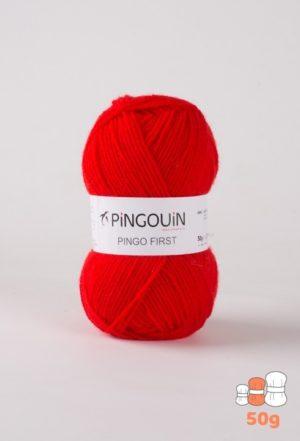 Pingo First de Pingouin sachet de 10 Pelotes de 50gr coloris Rouge