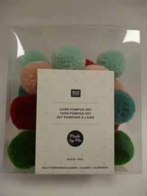 Set de 24 Pompons à laine de Rico Design N°45
