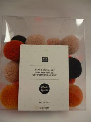 Set de 24 Pompons à laine de Rico Design N°46