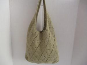 sac au crochet coloris vert amande