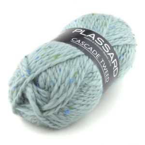 Cascade Tweed de PLASSARD Coloris N°22 Bleu Glacier