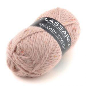 Cascade Tweed de PLASSARD Coloris N°30 Rose Pétale