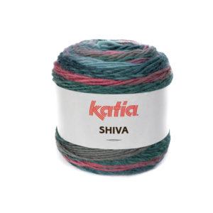 SHIVA N°403 de KATIA pelote 100 g ColorisRosé-Bleu vert-Gris