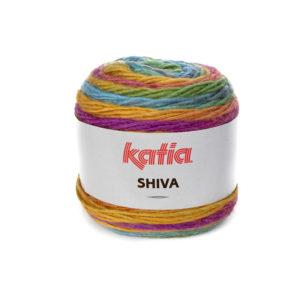 SHIVA N°404 de KATIA pelote 100 g ColorisFuchsia-Orange-Jaune-Vert-Bleu