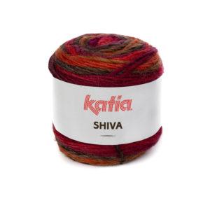 SHIVA N°407 de KATIA pelote 100 g ColorisRouge-Grenat-Marron