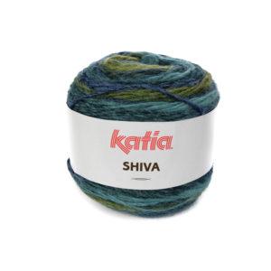 SHIVA N°408 de KATIA pelote 100 g ColorisVert-Vert sapin-Bleu