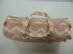 SAC à TRICOT Forme Bowling Motif «Rosée»