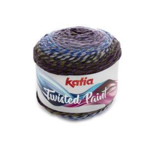 Twisted Paint N°151 de KATIA pelote 150 g ColorisGris-Lilas-Rosé