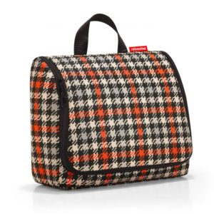 Toiletbag XL « glencheck red » Reisenthel