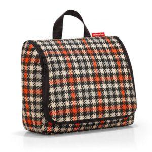 Toiletbag XL «glencheck red» Reisenthel