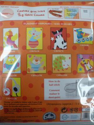 Kit Canevas Gros Trous pour enfants de DMC «La Kokeshi»