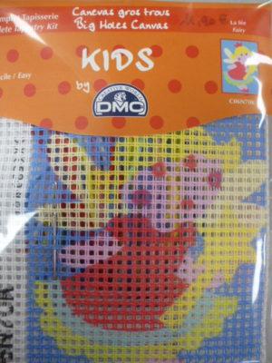 Kit Canevas Gros Trous pour enfants de DMC «La Fée»