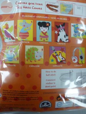 Kit Canevas Gros Trous pour enfants de DMC «La Chouette»
